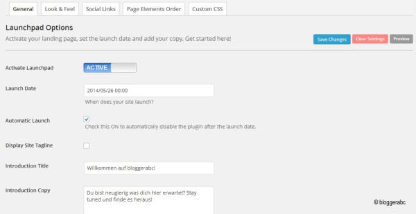 Das WordPress-Plugin Launch by Obox bietet einen schicken Countdown für deinen Blog.
