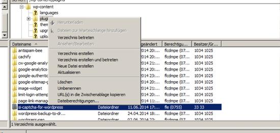 FileZilla_Serverzugang_Dateiberechtigung
