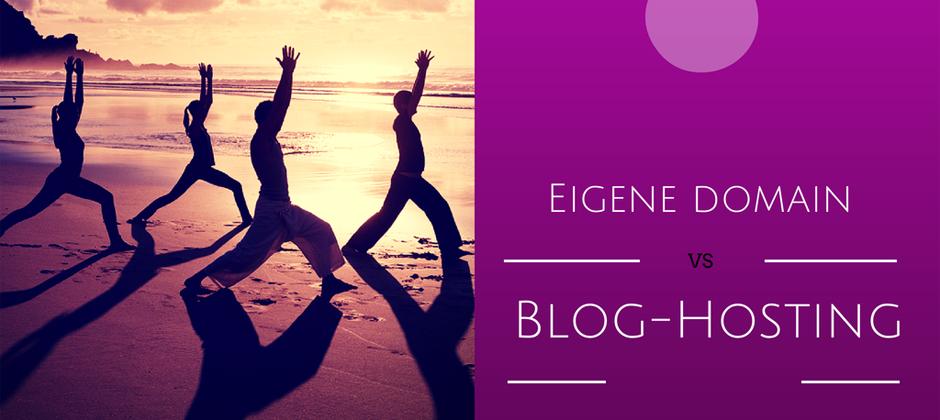 Ob man selbsthostet oder einen Drittanbieter nutzen will hängt vom Ziel des Blogs ab.