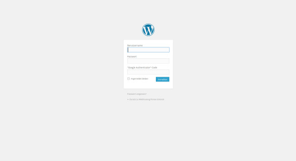 Wordpress mit Google Google Authenticator