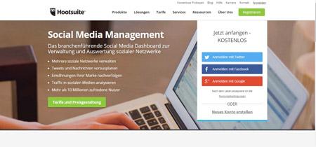 Hootsuite hilft die Social Media Beiträge im voraus zu planen und zu veröffentlichen.