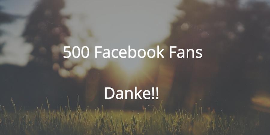 bloggerabc hat inzwischen über 500 Facebook Fans. Das soll mit einer Verlosung gefeiert werden.