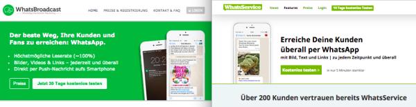 Die Betreuung der Listen kann auf eine externe Plattform ausgelagert werden. Anbieter im deutschen Raum: WhatsService oder WhatsBroadcas.