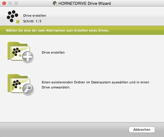 Ordner können ganz einfach erstellt und eigene Ordner direkt verschlüsselt umgewandelt werden.