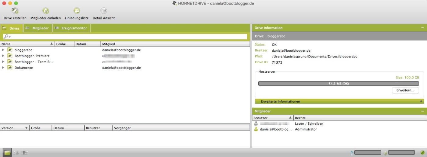 Hornetdrive ist einfach strukturiert und bietet die Möglichkeit seine Daten sicher zu speichern.