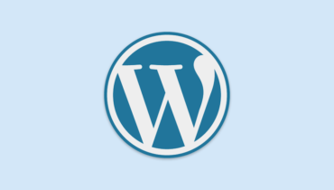 Logo von WordPress in Blau