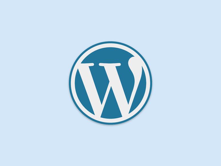 Logo von WordPress in Blau