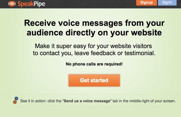 Tools Speak Pipe ist ein Tool mit dem Sprachnachrichten übers Netz schicken kann.