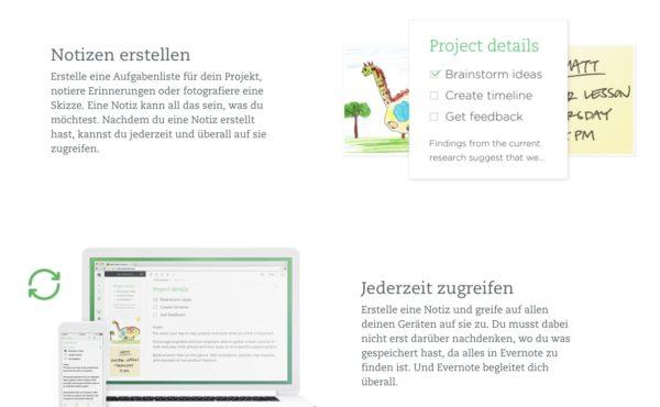 Tools Evernote ist ein Online Notizprogramm