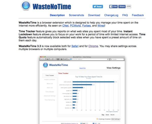 Tools Waste no time ist ein Online-Tool, das dabei hilft sich im Netz nicht ablenken zu lassen.